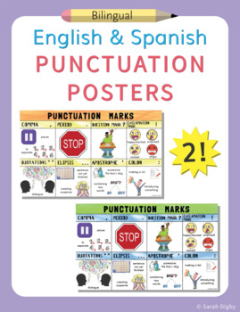 Spanish and English Punctuation Marks Posters –Set of 2