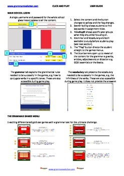 Interactive Online Games - Spanish French Grammar Dictatio