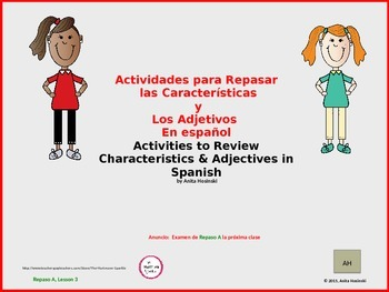 2nd year spanish asi se dice Repaso A teacher lesson 3 on