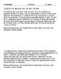 Spanish cognate reading