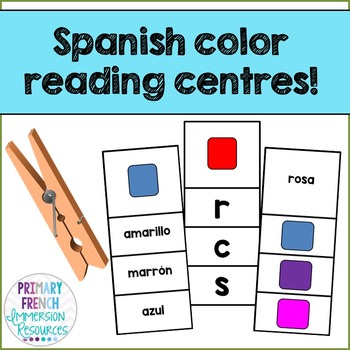 Spanish color reading centres