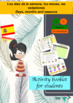 Spanish días, meses, estaciones bundle (powerpoint and booklet)