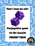 Spanish dice game for conjugation practice: That's how we
