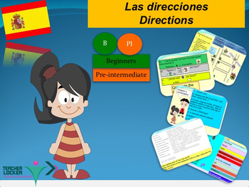 Spanish direcciones directions for beginners