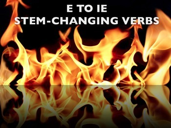 Spanish e to ie Stem-changing Verbs PowerPoint Slideshow P
