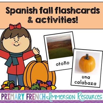 Spanish fall flashcards & vocabulary games - Los juegos otoño