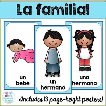 Spanish family posters - la familia