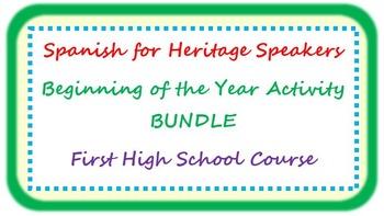 Spanish for heritage speakers - beginning of the year BUND