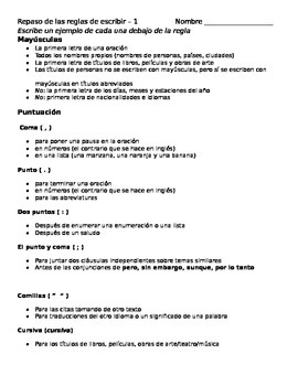 Spanish for heritage speakers mechanics review notes and p