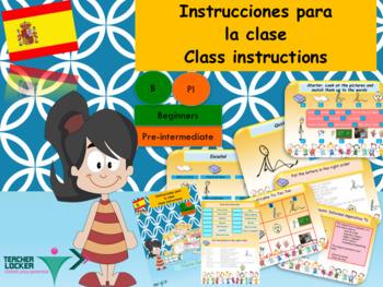 Spanish instrucciones en la clase, classroom instructions