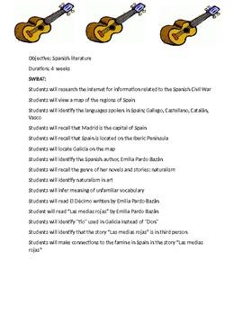 Spanish literature lesson plan