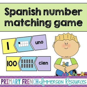 Spanish math game - Matching numbers