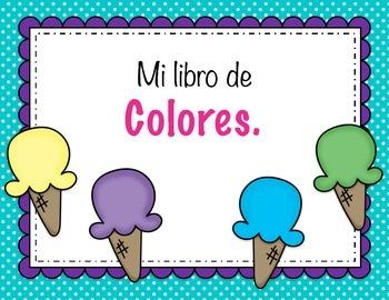 Spanish mini book of colors. El libro de colores.