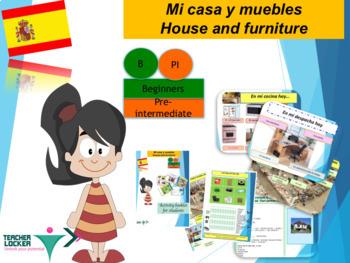 Spanish muebles en la casa, furniture full lesson for beginners