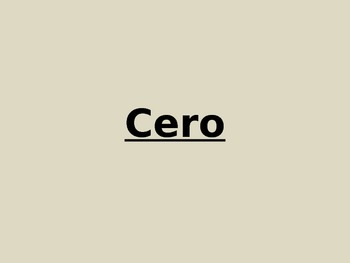 Spanish numbers review cero uno dos numeros