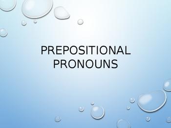 Spanish prepositional pronouns
