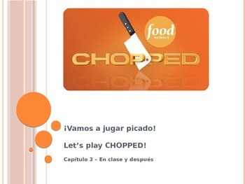 Spanish review:  Chopped! style Game