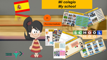 Spanish school description, mi colegio bundle (ppt and boo
