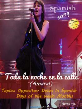 Spanish song: Toda la noche en la calle. Amaral. Dates, op