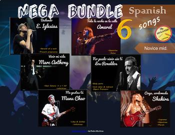 Spanish songs mega bundle (6 songs). Novice Mid. Presentat