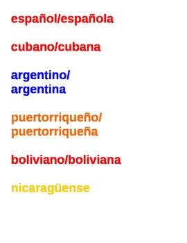 Spanish-speaking Nationalities