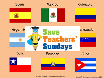 Spanish-speaking countries Lesson plan, PowerPoint and Wor