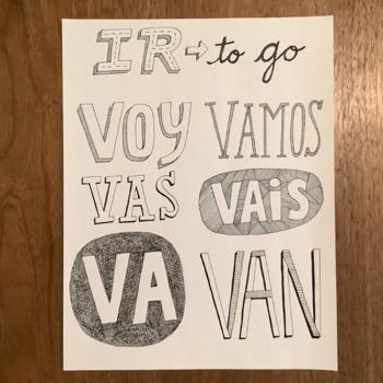 Spanish verb IR ~poster ~bulletin board ~word wall ~presen