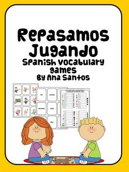 Spanish vocabulary game Repasamos Jugando