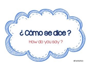 Spanish/English Classroom Signs