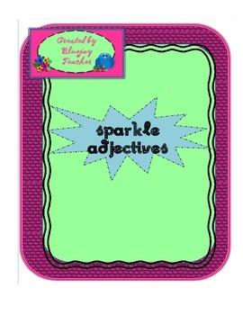 Sparkle Adjectives Printable