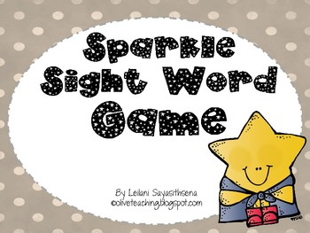 Sparkle Sight Word Game