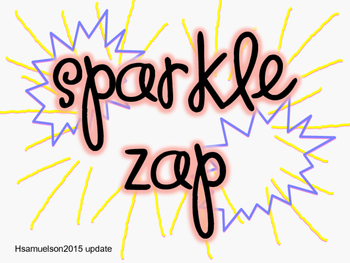Sparkle Zap with Multiples (math version)