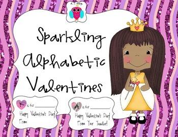 Sparkling Alphabetic Valentines