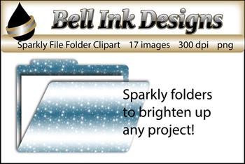 Sparkly File Folder Clipart