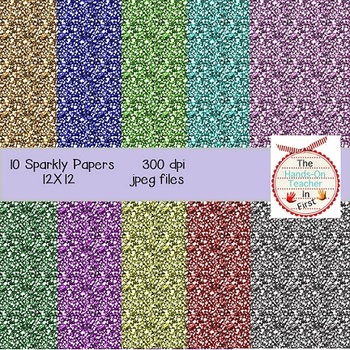 Sparkly Glitter Papers: 10 Sparkling Backgrounds!