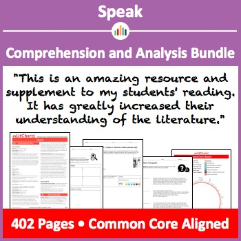 Speak – Comprehension and Analysis Bundle