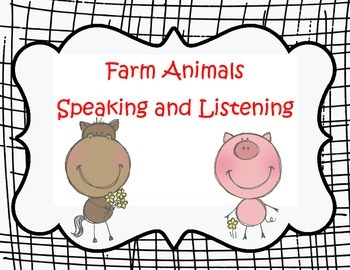 WIDA ESOL Speak Up About Farm Animals!