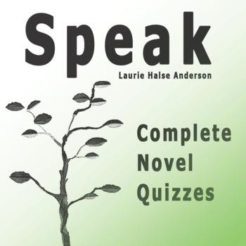 SPEAK Laurie Halse Anderson Complete Novel Quizzes — Four