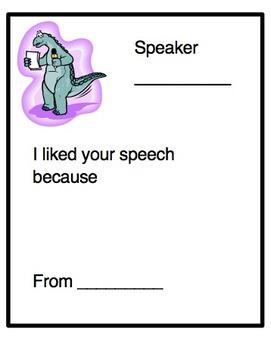 Speaking & Listening Feedback Cards
