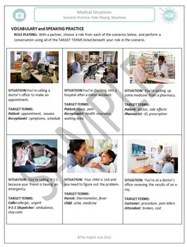 Health and Medicine: Medical role-playing scenarios  (Adult ESL)