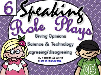 Speaking Role Play Cards ESL Pack 6 {Giving Opinions / Tec