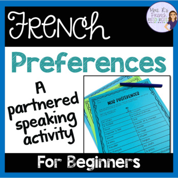French er verbs speaking activity