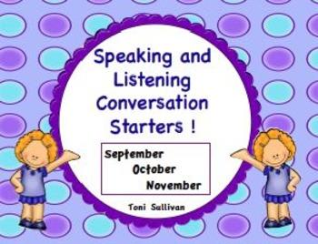 Speaking and Listening Conversation Starters for September