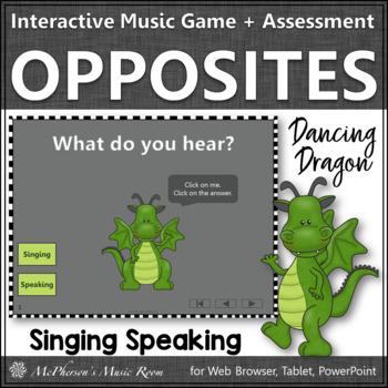 Speaking or Singing Voice Interactive Music Game + Assessm