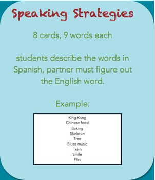 Speaking strategy: Guess the word