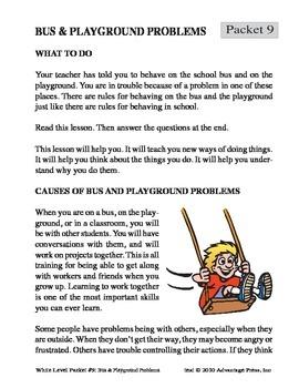 SpecEd Discipline: Bus & Playground Problems