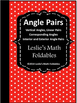 Special Angle Pairs Math Foldable