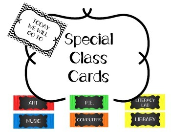 Special Class Cards
