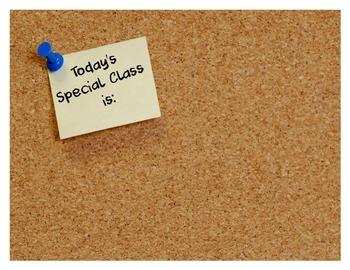 Special Class Corkboard Poster