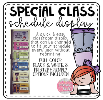 Special Class Schedule Display!  Melonheadz Edition!